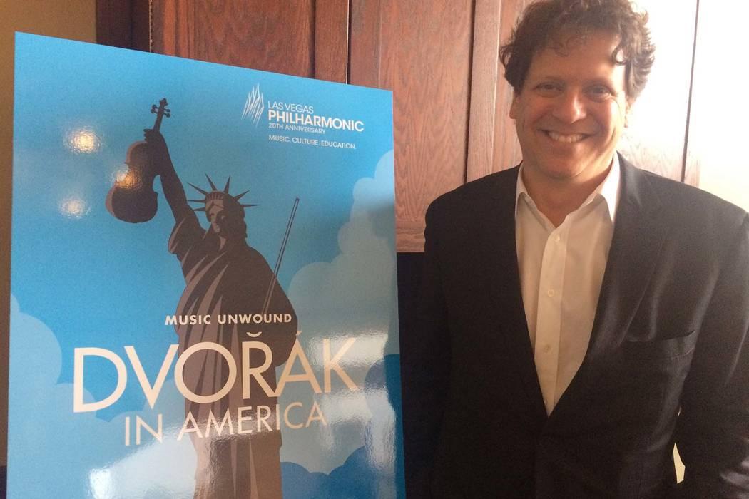 Las Vegas Philharmonic music director Donato Cabrera at the 2018-19 season announcement, April 5, 2018.