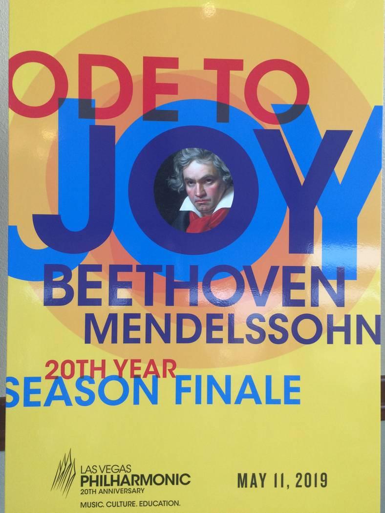 A poster touting the Las Vegas Philharmonic's 20th season finale.