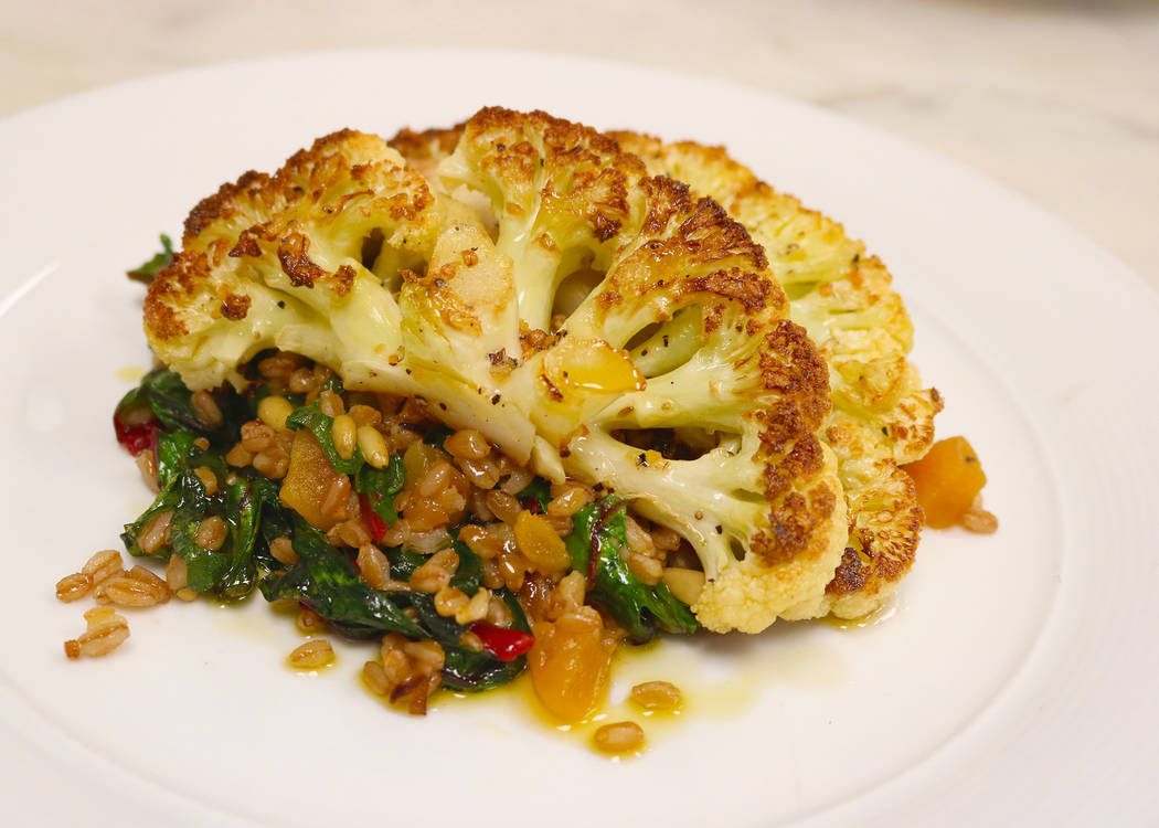 Silverton Pan-seared cauliflower steak is new on the menu at Twin Creeks Steakhouse at the Silverton.