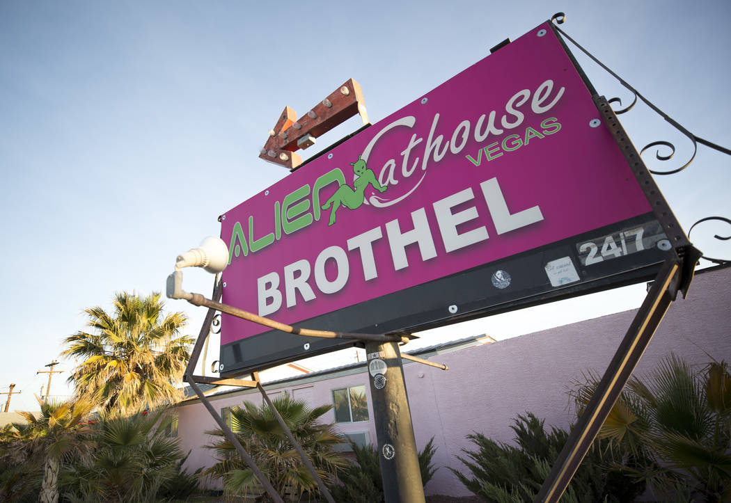 The Alien Cathouse brothel behind the Area 51 Alien Center in Amargosa Valley, Nevada, about 90 miles north of Las Vegas, Friday, April 6, 2018. Richard Brian Las Vegas Review-Journal @vegasphotograph