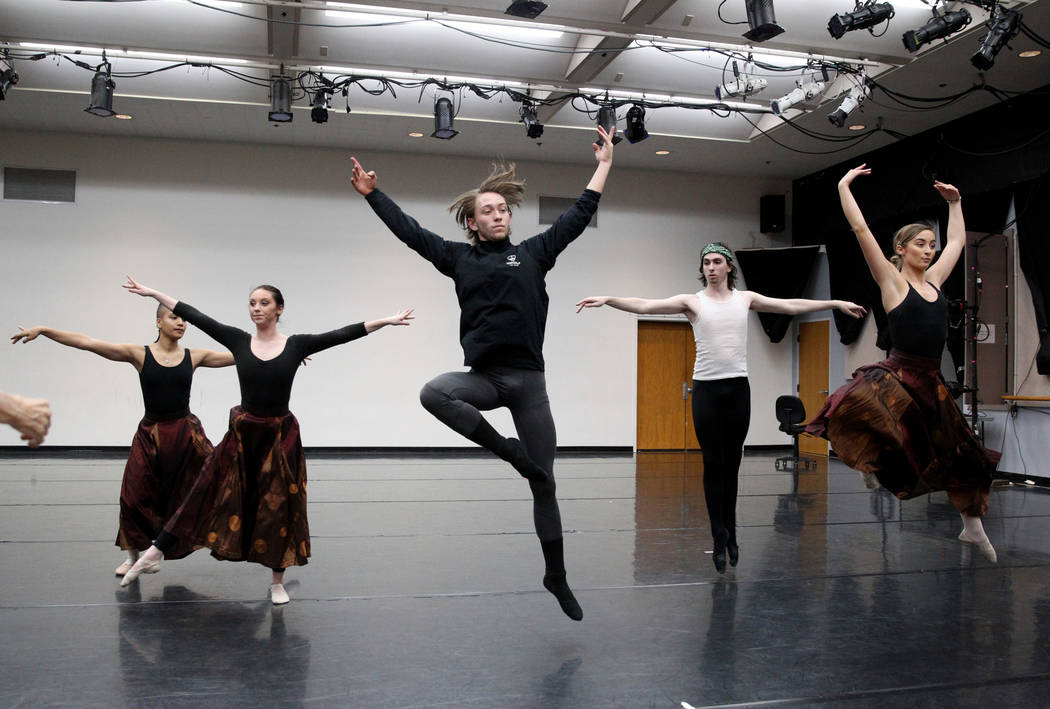 "UNLV dancers rehearse Thursday, April 5, 2018, for the upcoming ""Carmina Burana"" concert with the Las Vegas Philharmonic at The Smith Center Reynolds Hall on Saturday, April 14 at 7:30 p ..."