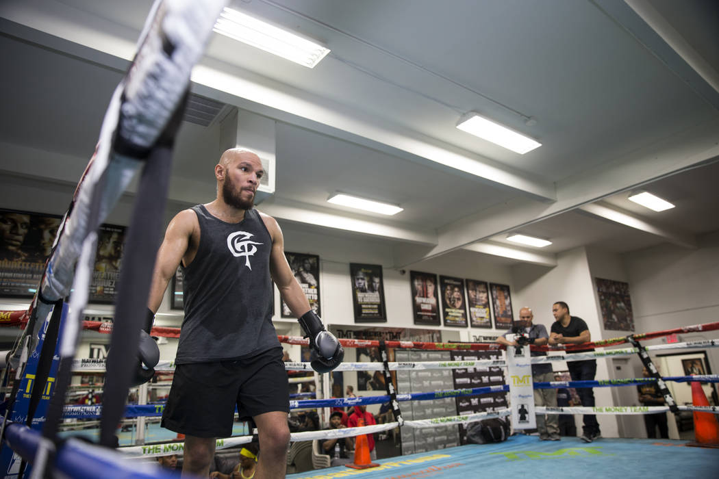 Boxer Caleb Truax during media day at the Mayweather Boxing Club in Las Vegas, Wednesday, April 4, 2018.ErikVerduzcoLasVegasReview-Journal@Erik_Verduzco