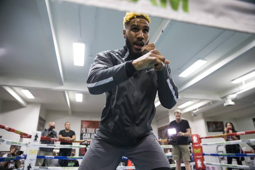 Jarrett Hurd during media day at the Mayweather Boxing Club in Las Vegas, Wednesday, April 4, 2018.  Las Vegas Review-Journal @Erik_Verduzco