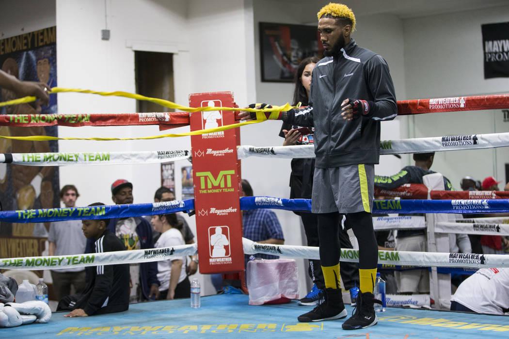 Boxer Jarrett Hurd during media day at the Mayweather Boxing Club in Las Vegas, Wednesday, April 4, 2018.  Las Vegas Review-Journal @Erik_Verduzco