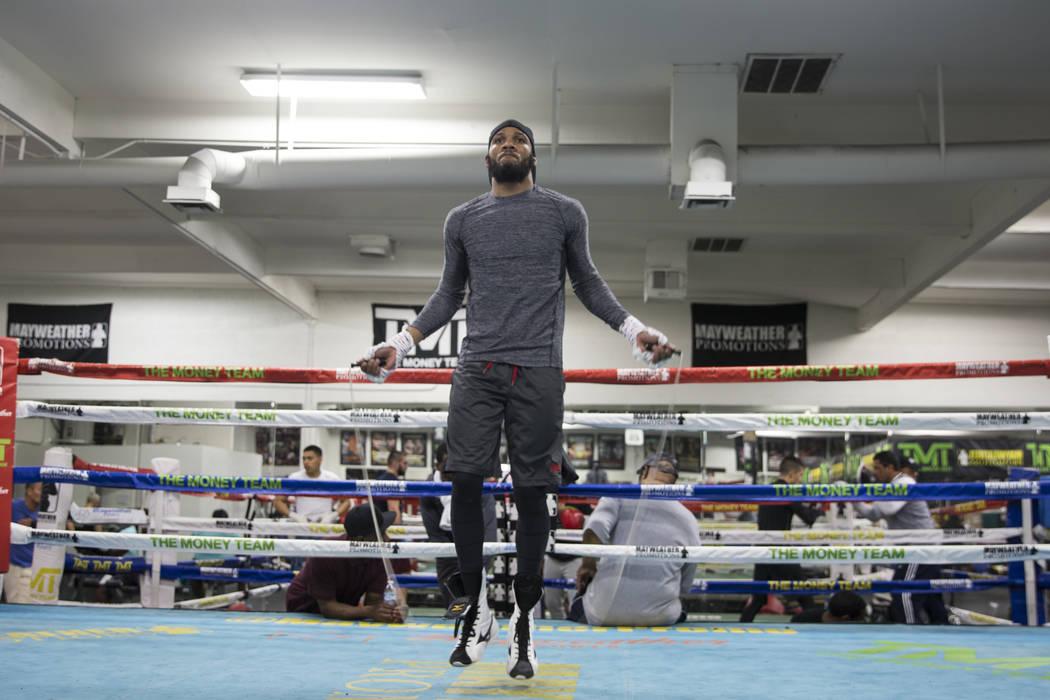 Boxer Julian Williams during media day at the Mayweather Boxing Club in Las Vegas, Wednesday, April 4, 2018.  Las Vegas Review-Journal @Erik_Verduzco