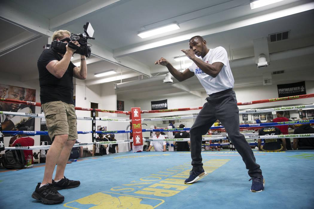 Boxer Erislandy Lara during media day at the Mayweather Boxing Club in Las Vegas, Wednesday, April 4, 2018.  Las Vegas Review-Journal @Erik_Verduzco
