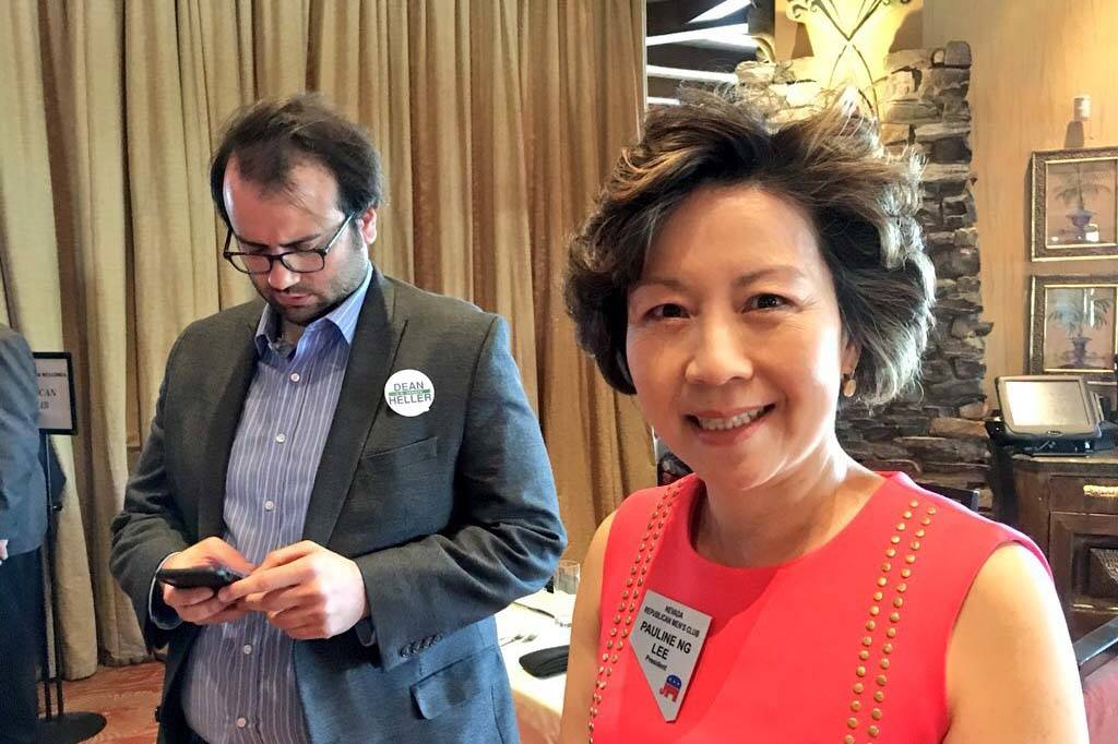 Pauline Ng Lee, president of the Nevada Republican Men's Club, said Tuesday the media was excluded because of space challenges and reporters block servers during the meal service. Heller's campaig ...