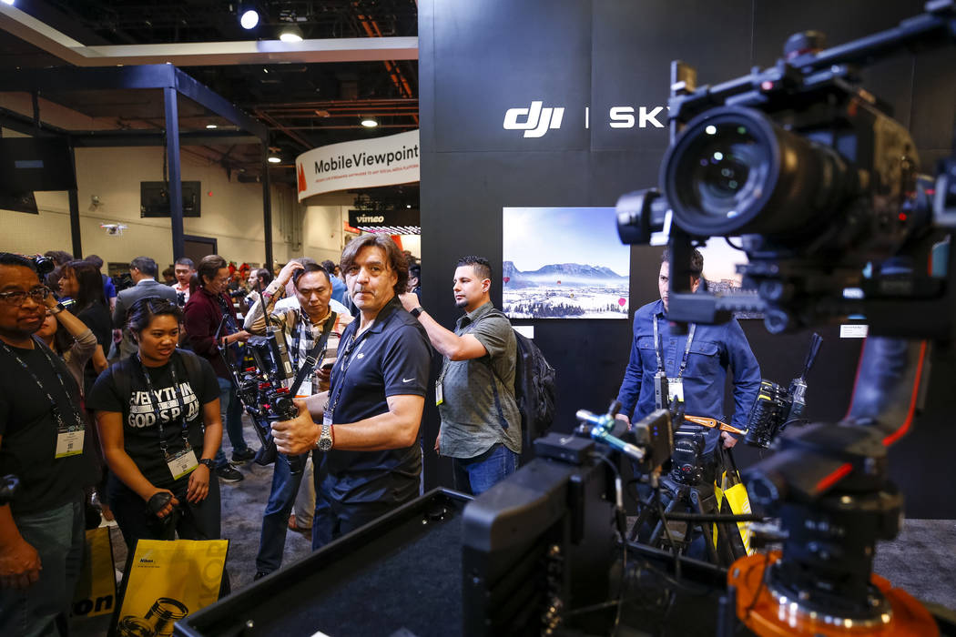 National Association of Broadcasters exhibition, during the NAB Show, at the Las Vegas Convention Center, Monday morning, April 9, 2018. Richard Brian Las Vegas Review-Journal @vegasphotograph