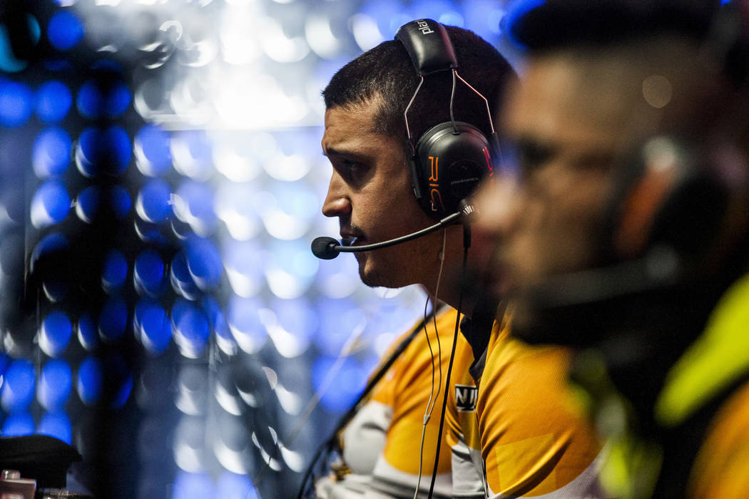 "Reynaldo Tosado, known as ""ChaoZ,"" plays Gears of War with his team Ronin while competing in the Gears Pro Circuit Las Vegas Open at Caesars Entertainment Studios in Las Vegas on Friday, ..."