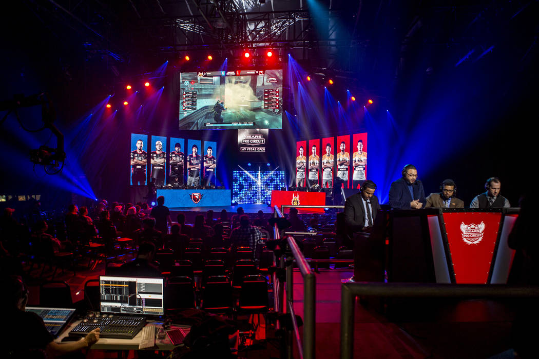 Team Ronin and Rise Nation compete in Gears of War during the Gears Pro Circuit Las Vegas Open at Caesars Entertainment Studios in Las Vegas on Friday, April 6, 2018.  Patrick Connolly Las Vegas R ...