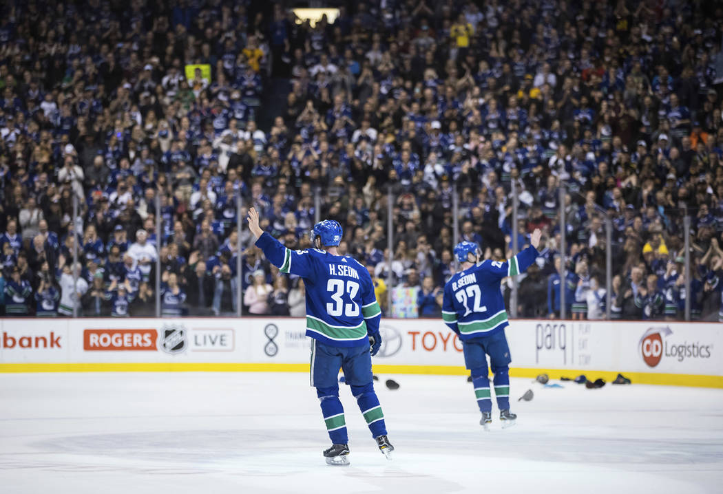 more photos 0b658 fb43d Hockey numerology highlights Sedin twins  retirement   Las Vegas  Review-Journal