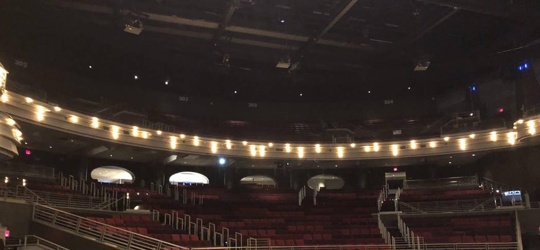 A look at the Pearl Concert Theater on Friday, April 6, 2018. (John Katsilometes/Las Vegas Review-Journal)