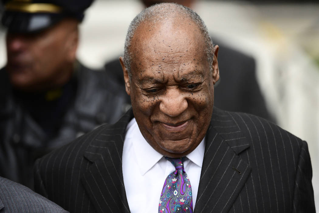 Bill Cosby arrives for his sexual assault trial at the Montgomery County Courthouse, Monday, April 9, 2018, in Norristown, Pa. (Corey Perrine/AP)