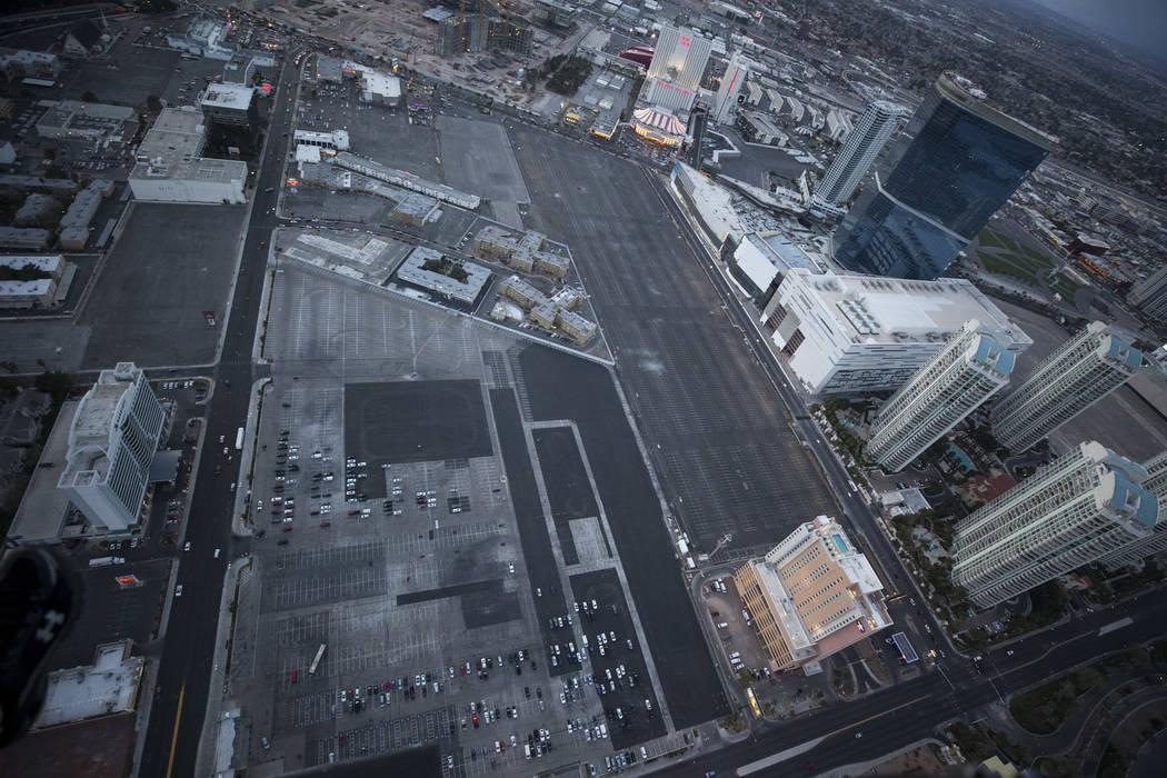 Site of the Las Vegas Convention Center expansion in Las Vegas on Monday, Feb. 12, 2018. Richard Brian Las Vegas Review-Journal @vegasphotograph