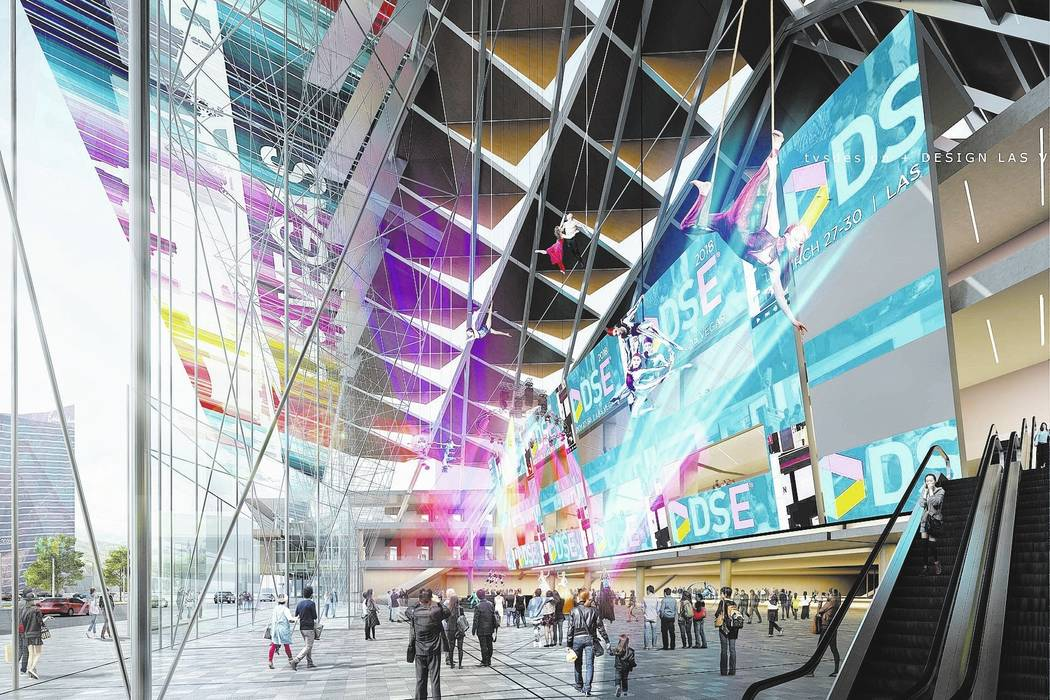 A conceptual rendering of the Las Vegas Convention Center District Phase Two Expansion. (TVS Design/Design Las Vegas)