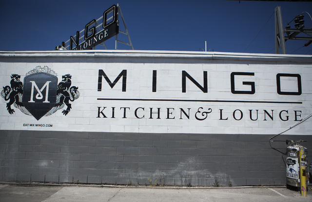 An exterior view of Mingo Kitchen and Lounge is seen April 3, 2015. Women will be able to order drinks at Mingo Kitchen & Lounge Tuesday for just 65 cents, compared to $1 for men in recognition of ...
