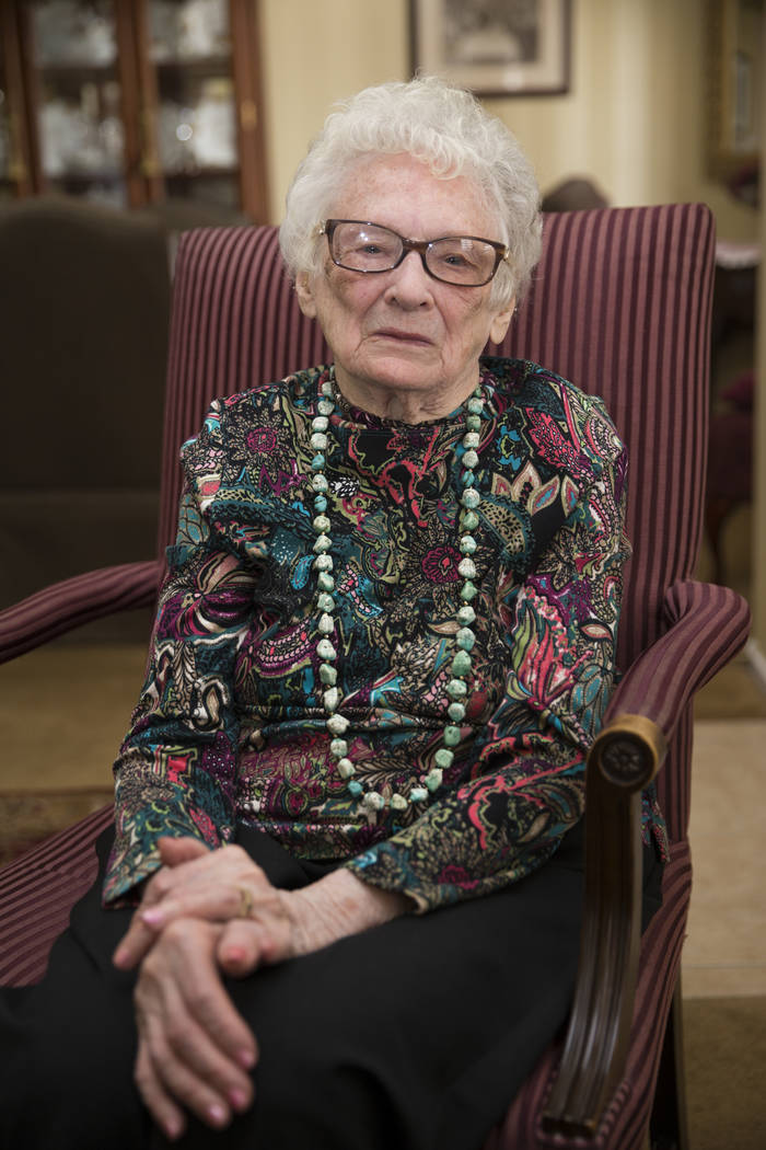 Maryann Lawrence at her Las Vegas home, Tuesday, April 10, 2018. Maryann and her relatives helped her cousin Mary Szymerski immigrate to the United States after spending several years as a politi ...