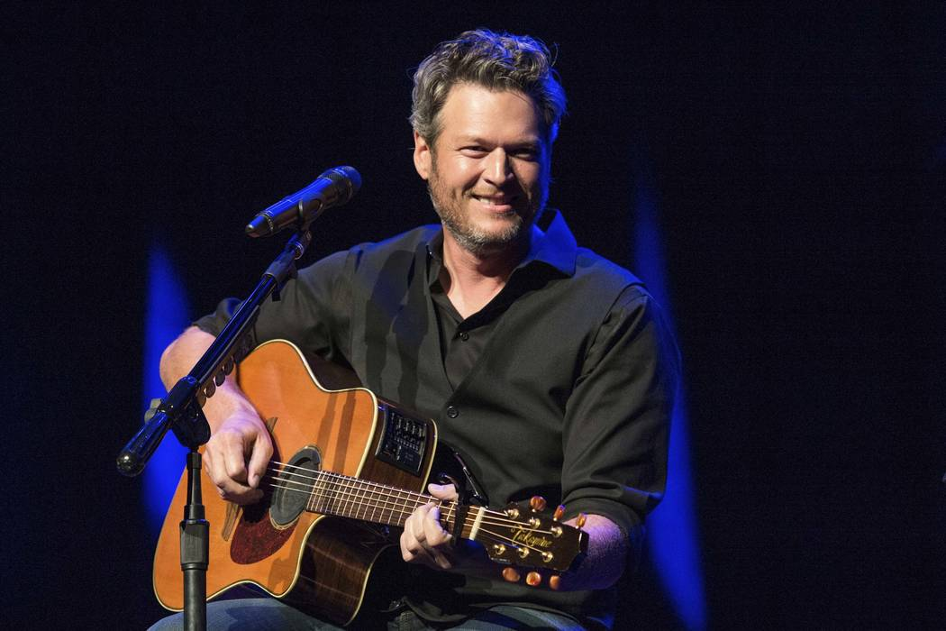"Blake Shelton performing at the 12th Annual Stars for Second Harvest Benefit at Ryman Auditorium in Nashville, Tennessee, June 7, 2016. Shelton was named as People magazine's 2017 ""Sexiest Man Ali ..."