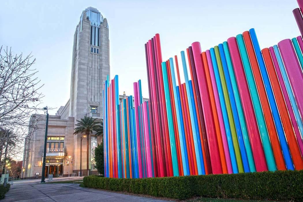 The Smith Center in downtown Las Vegas. (Benjamin Hager/Las Vegas Review-Journal) @benjaminhphoto