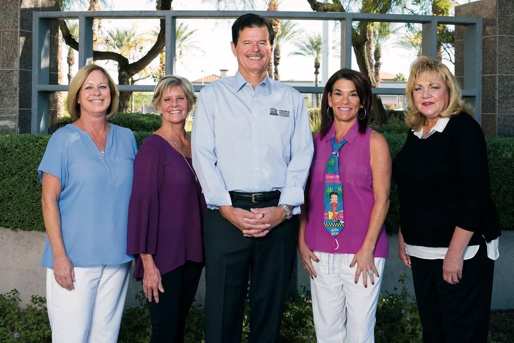 Rick Piette, center, leads his team at Premier Mortgage Lending of Las Vegas. (Premier Mortgage Lending)