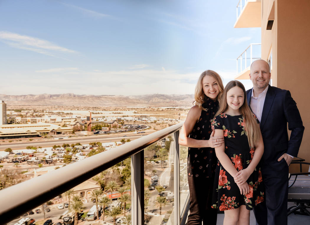 TJ and Jennifer Saye, along with their daughter Sophia, purchased their vacation home at One Las Vegas last fall. (One Las Vegas Lucky Wenzel)