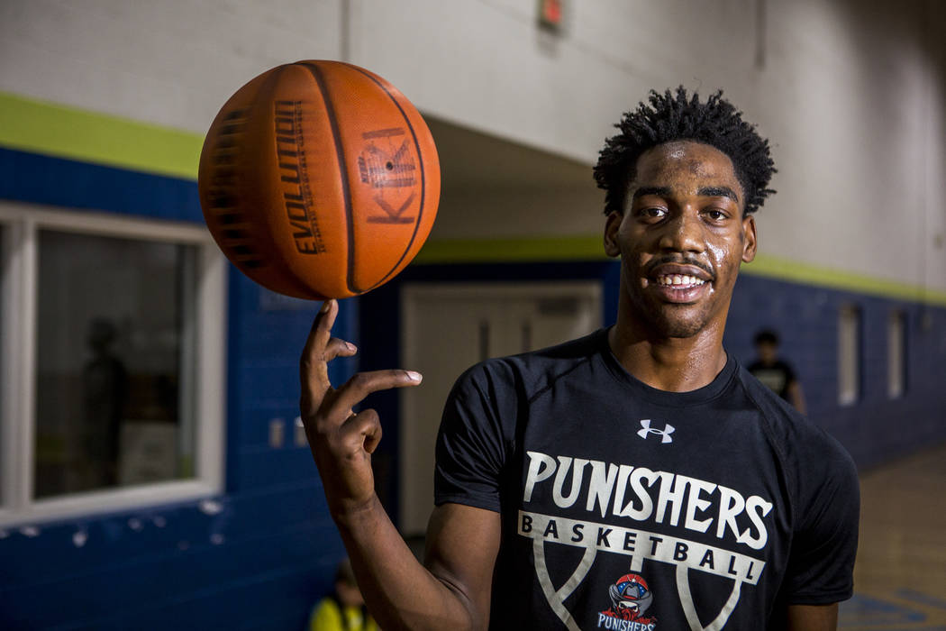 Justin Holliday, a basketball player and recent graduate of Rancho High School, at the Donald W. Reynolds Clubhouse in Henderson on Tuesday, April 10, 2018. Holliday was offered a scholarship to p ...