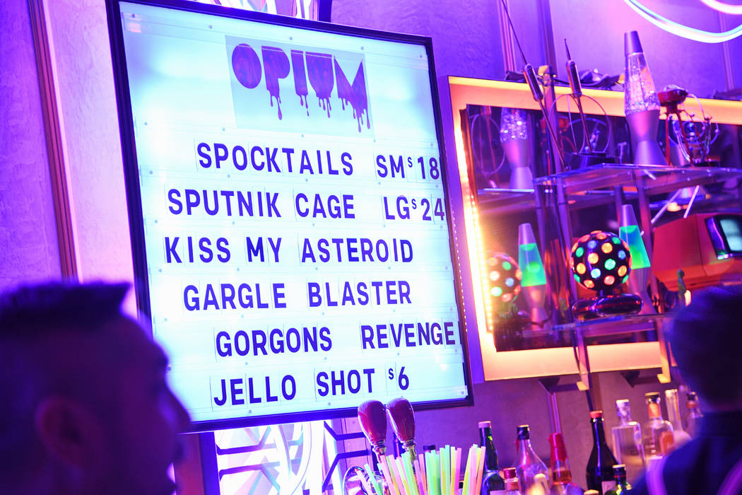 "The Opium Theatre Bar is show during opening night of ""Opium"" at the Cosmopolitan of Las Vegas on Sunday, April 8, 2018. (Al Powers)"