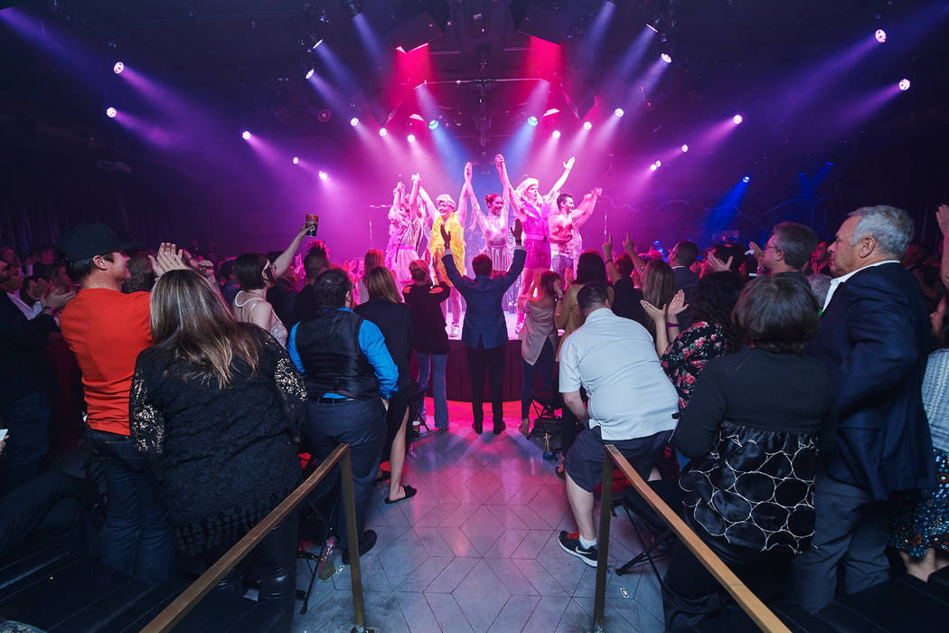 "The opening-night crowd gives ""Opium"" at the Cosmopolitan of Las Vegas a standing ovation on Sunday, April 8, 2018. (Al Powers)"