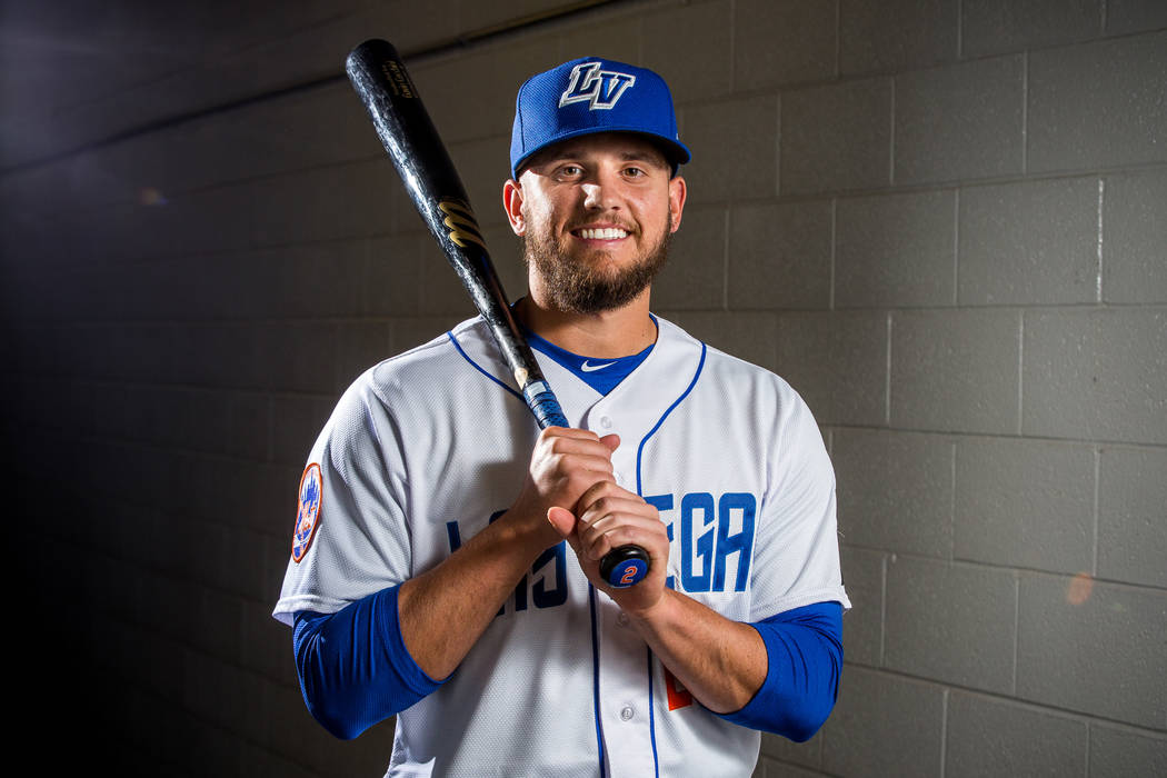 Gavin Cecchini had two hits off El Paso starter Kyle Lloyd. (Patrick Connolly Las Vegas Review-Journal) @PConnPie