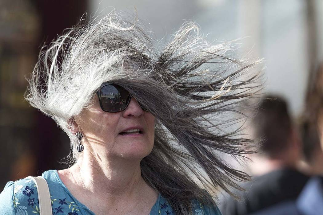 Winds will be picking up this week in the Las Vegas Valley. (Richard Brian/Las Vegas Review-Journal) @vegasphotograph