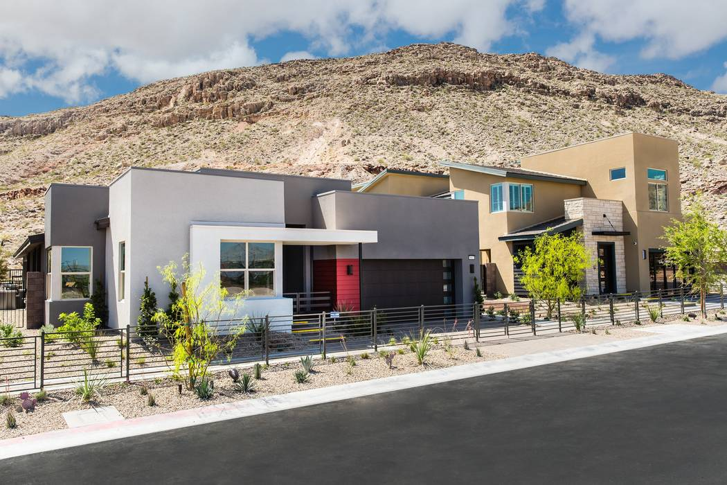 Pardee Homes is celebrating the grand opening of its new Terra Luna neighborhood in The Cliffs village in Summerlin. Shown are the single-story Plan One and two-story Plan Two model homes. (Pardee ...
