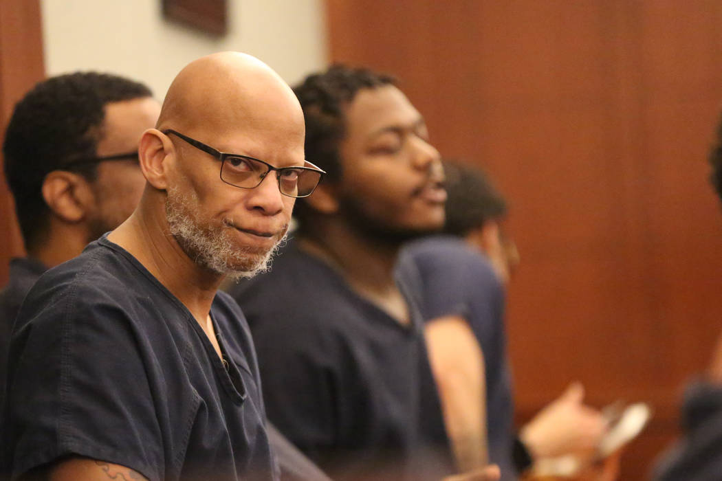 Former Las Vegas police officer Arthur Sewall Jr., 51, accused of killing 20-year-old Nadia Iverson in May 1997, appears in court on Thursday, March 22, 2018. (Michael Quine/Las Vegas Review Journ ...