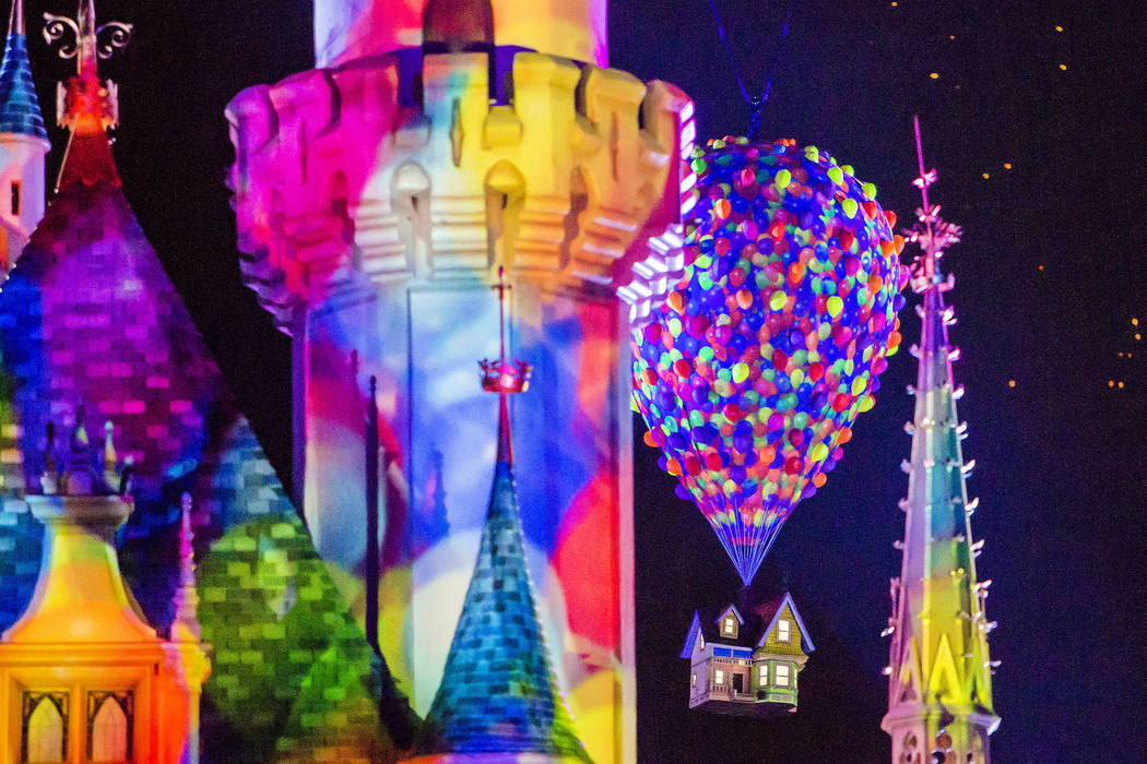 """TOGETHER FOREVER FIREWORKS – Debuting with Pixar Fest on April 13, 2018, """"Together Forever – A Pixar Nighttime Spectacular"""" will celebrate Pixar stories through the decades as it lights up ..."""