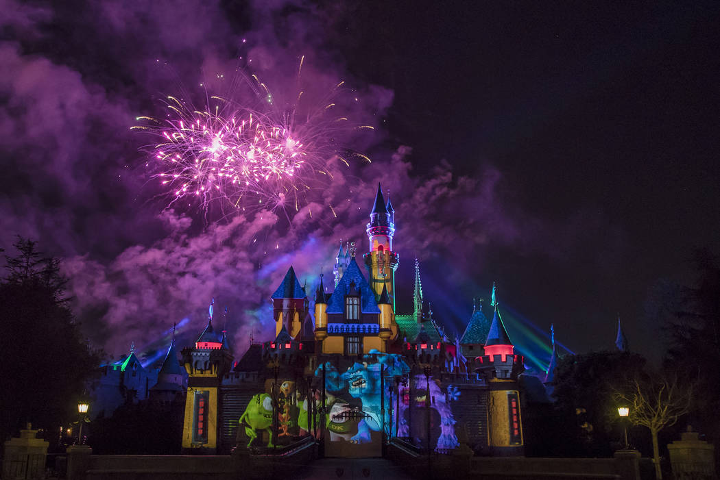 "Debuting with Pixar Fest on April 13, 2018, ""Together Forever – A Pixar Nighttime Spectacular"" will celebrate Pixar stories as it lights up the sky over Disneyland Park. (Joshua Sudock/Disne ..."