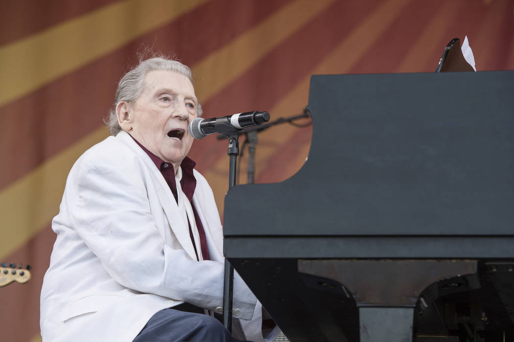 Jerry Lee Lewis performs during the New Orleans Jazz & Heritage Festival on May 2, 2015, in New Orleans. (Photo by Amy Harris/Invision/AP)