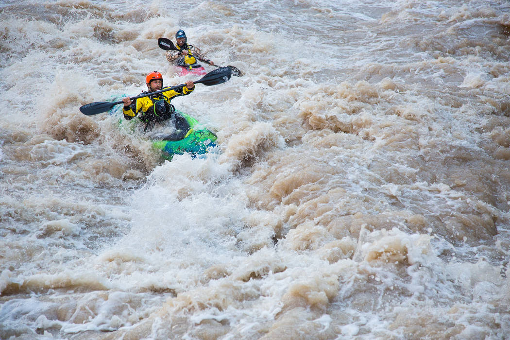 Erik Weihenmayer kayaks the Grand Canyon in 2014. (Courtesy James Q. Martin)