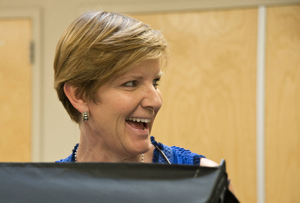 The campaign for Susie Lee, a Democratic candidate for Nevada's 3rd Congressional District, said that she raised $550,000 in the first quarter of 2018. (Daniel Clark/Las Vegas Review-Journal) @Dan ...