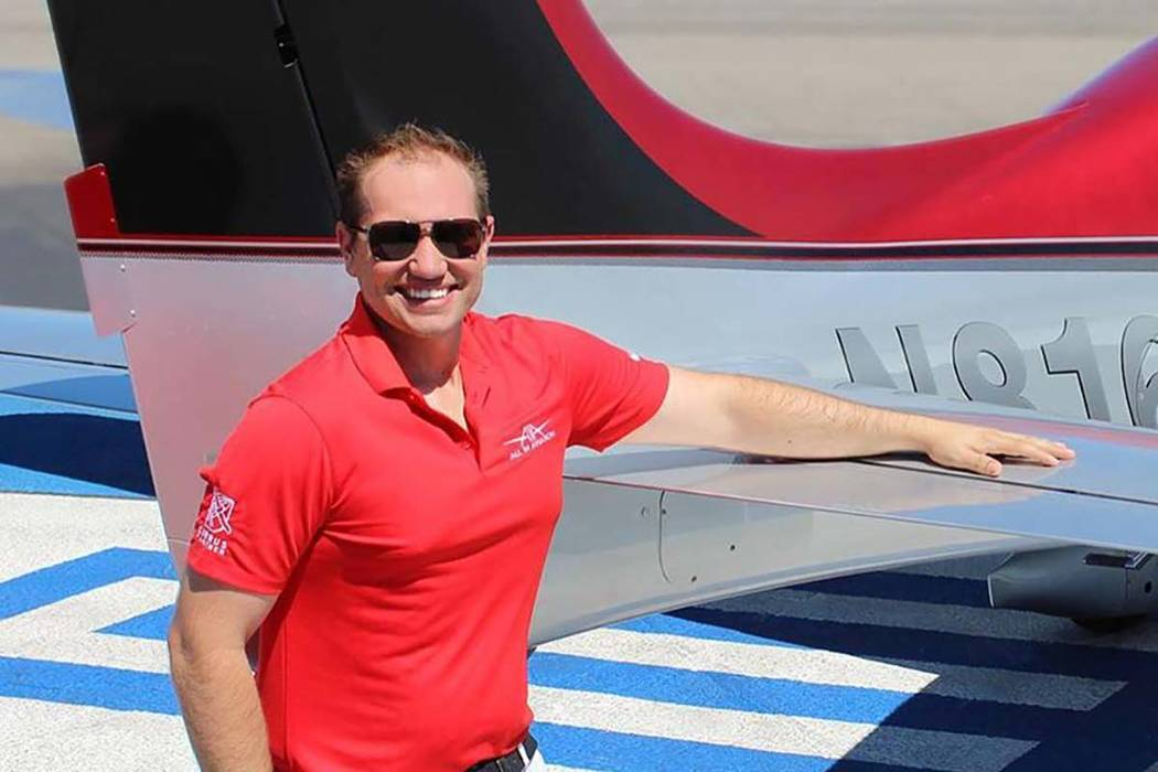 Erik Valente was a Las Vegas-based pilot who was killed in an Arizona plane crash, Monday, April 9, 2018. (All In Aviation)