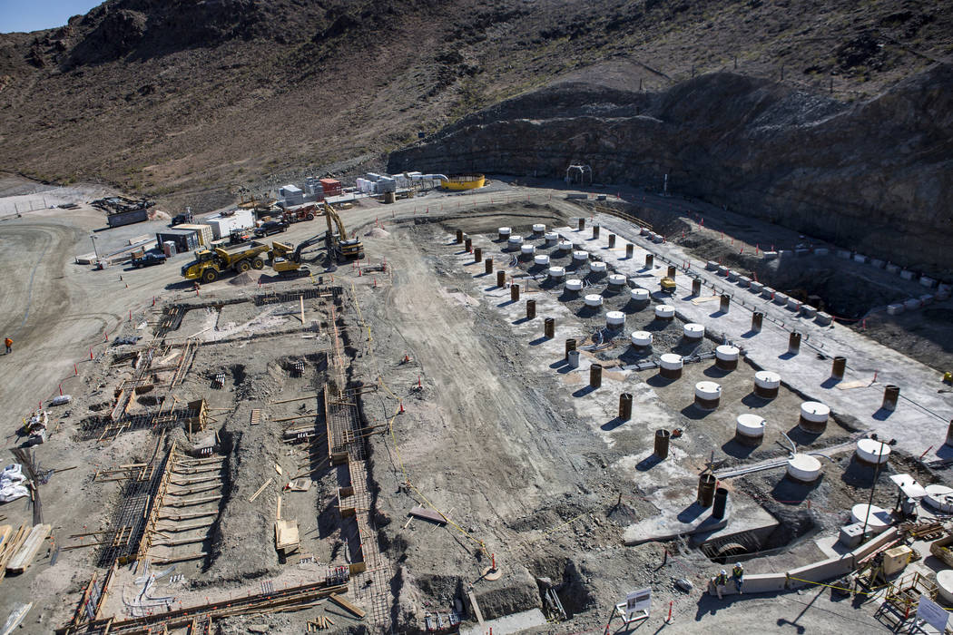 The Southern Nevada Water Authority's low-lake-level pumping station, currently under construction at Lake Mead, on Saturday, April 14, 2018. Patrick Connolly Las Vegas Review-Journal @PConnPie