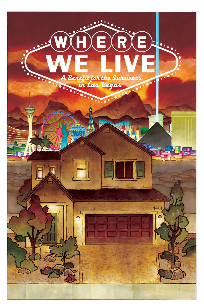 """This is a handout illustration of the cover of """" Where We Live, """" released by J.H. William III, Wednesday, April 11, 2018. """"Where We Live,"""" is a comic anthology about the Oct. ..."""