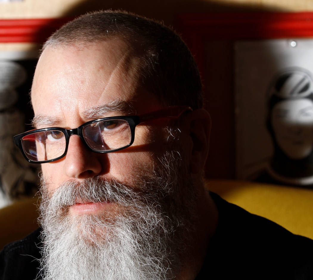 """J.H. Williams III, a comic artist, pauses while speaking about their project, """"Where We Live,"""" a comic anthology, to the Review-Journal at Alternate Reality Comics in Las Vegas, Wednesda ..."""
