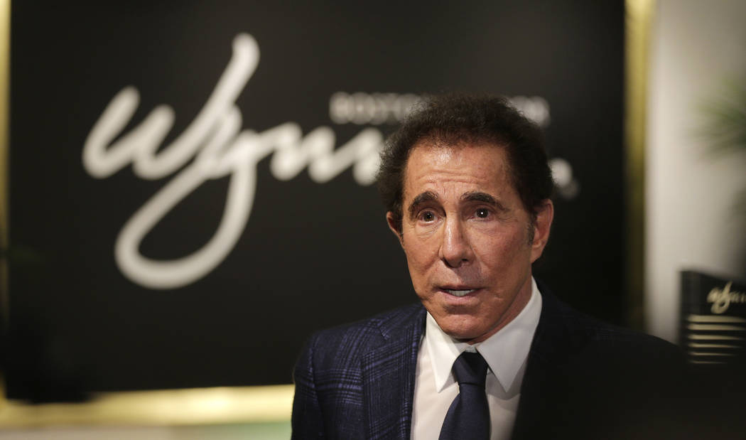 File - In this March 15, 2016, file photo, casino mogul Steve Wynn takes part in a news conference in Medford, Mass. (AP Photo/Charles Krupa, File)