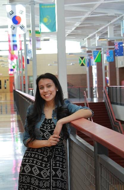 In this 2013 file photo, Helena Lagos, a Legacy High School student, poses for a portrait at her school in North Las Vegas. Las Vegas Review-Journal, File