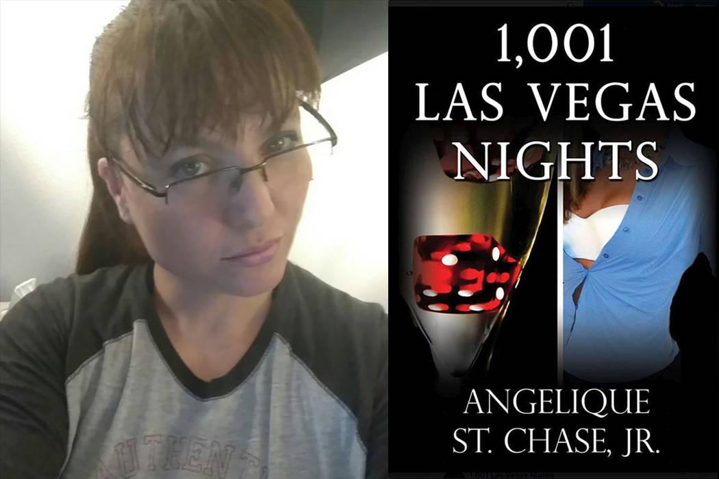 "Andjelika Martin, left, and her book ""1,001 Las Vegas Nights"""