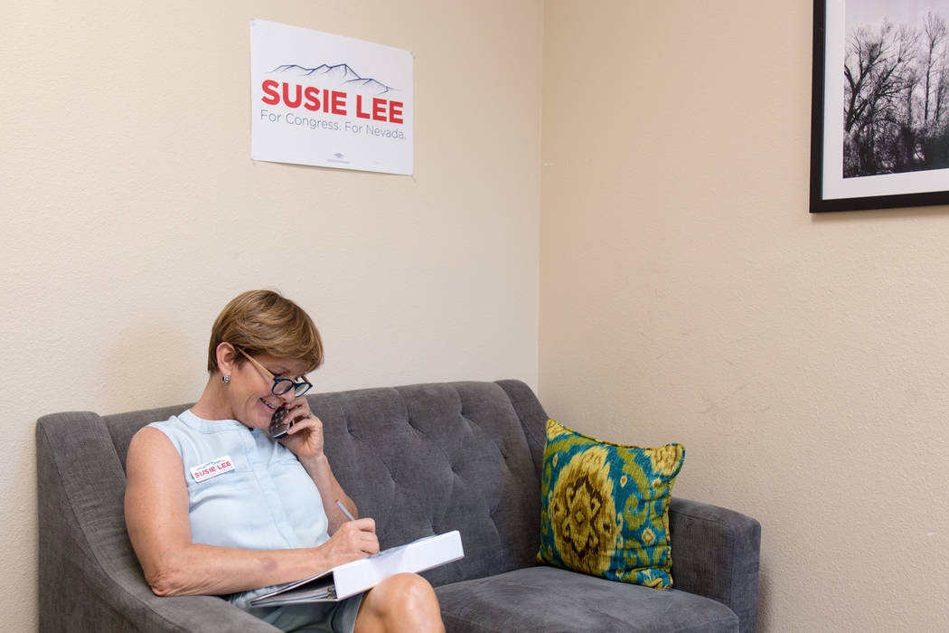 Las Vegas philanthropist Susie Lee, is a Democratic candidate in the Congressional District 3. (Elizabeth Brumley/Las Vegas Review-Journal)