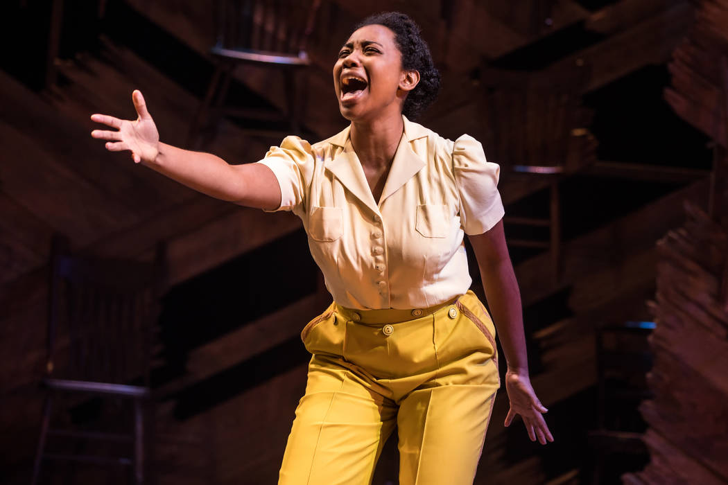 "Matthew Murphy Adrianna Hicks as Celie in the North American tour of the Tony-winning ""Color Purple"" revival."