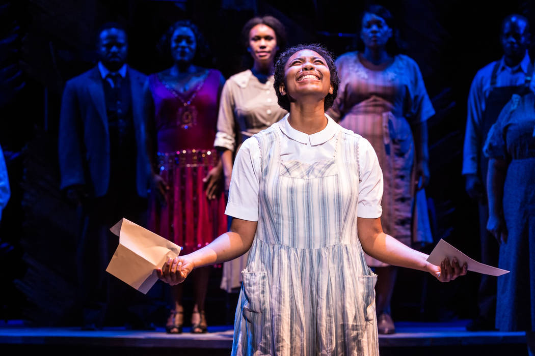 "Matthew Murphy Adrianna Hicks and the North American tour cast of ""The Color Purple."""