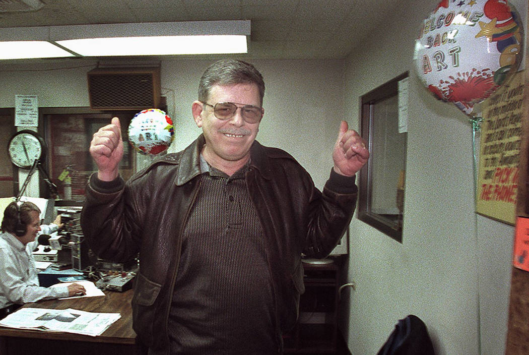 """Radio host Art Bell signals his return to the airwaves as he leaves KDWN-Radio after announcing his return to radio beginning Feb. 5, 2001. Bell hosted the popular paranormal radio talk show """"Coas ..."""