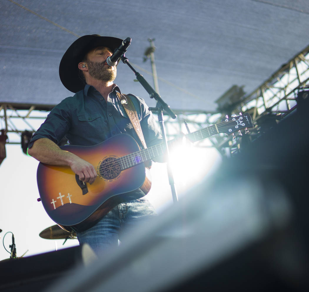 Aaron Watson performs during the ACM Party for a Cause at Stoney's Rockin' Country in Las Vegas on Friday, April 13, 2018. Chase Stevens Las Vegas Review-Journal @csstevensphoto