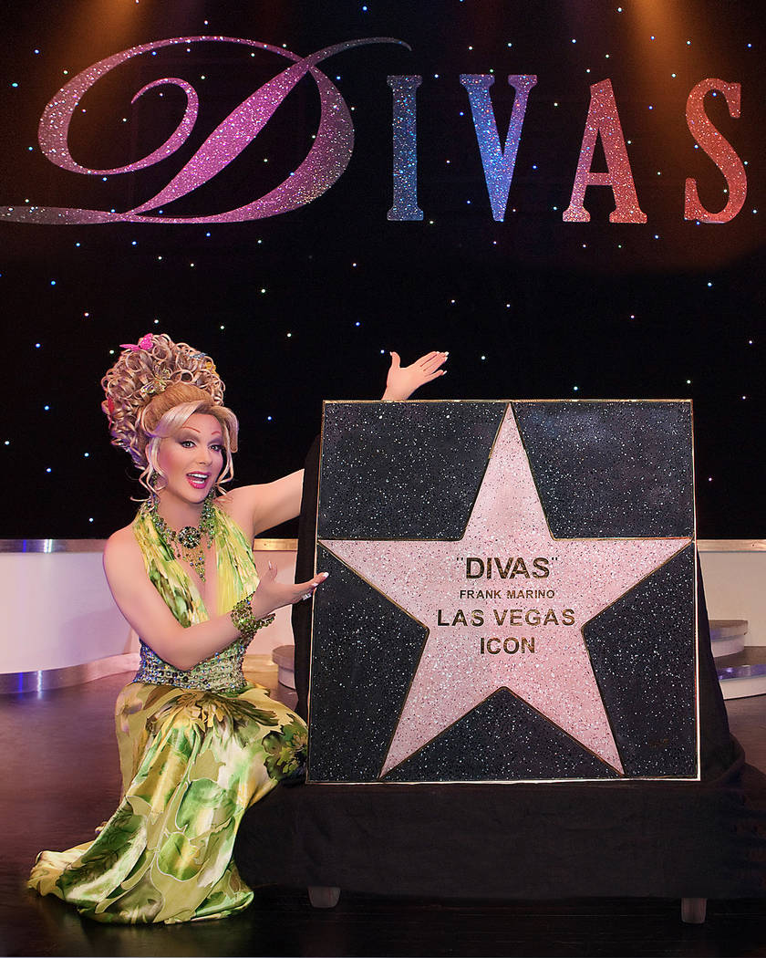 Frank Marino is presented with his second Star on The Las Vegas Walk of Stars at his show Frank Marino's Diva's Las Vegas, featuring a cast of celebrity female impersonators at The Imperial Palace ...